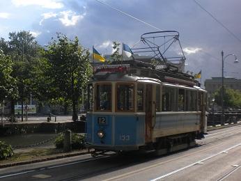 Le tram de Göteborg.
