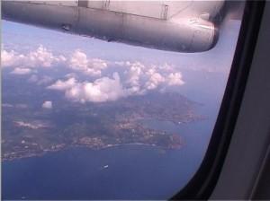 Mon premier voyage en avion, lors d'un match à Nice...