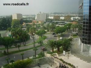 La vue depuis ma chambre d'hôtel, à Nice...