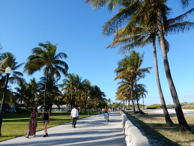 Deco Drive à Miami, entre la ville et l'océan