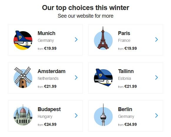 Voici ci-dessus une copie d écran de la dernière newsletter que j ai reçue de  la part de Ryanair. Vous le constaterez vous-même, les promos et les bons  ... 8944200c787c