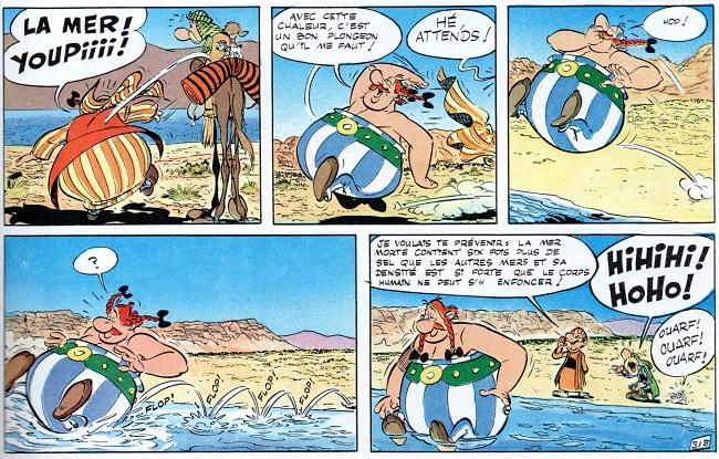 Voltaire se moquait de l'asphalte ... Asterix-mer-morte